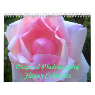 Calendario original de la flor de la fotografía