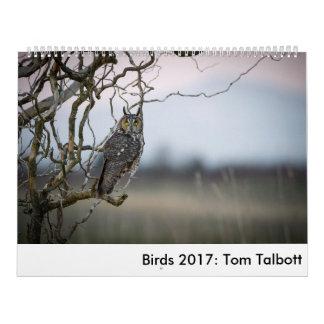 Calendario Pájaros 2017: Tom Talbott