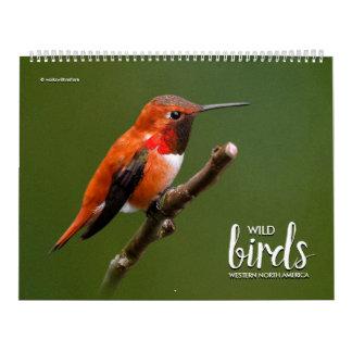 Calendario Pájaros salvajes de Norteamérica occidental