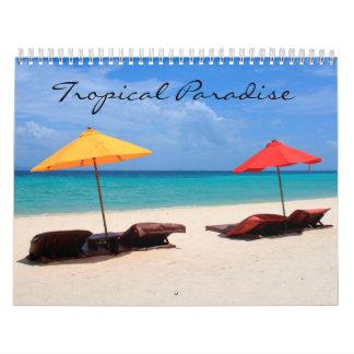 Calendario Paraíso tropical