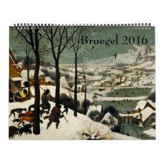 Calendario Pieter Bruegel el 2016 enorme más viejo