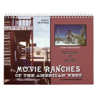 Calendario Ranchos de la película del oeste americano
