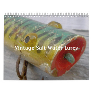 Calendario - señuelos del agua salada del vintage