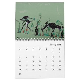 Calendario tribal africano del arte