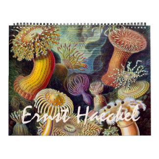 Calendario Vintage Ernesto Haeckel, biología, botánica,