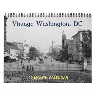 Calendario Washington DC del vintage