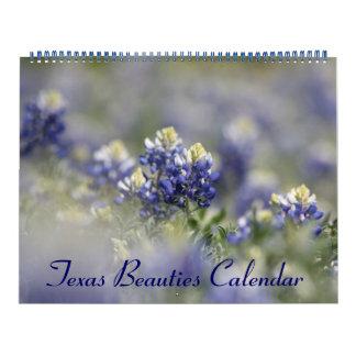 Calendarios 2018 Bluebonnets de Tejas salvajes