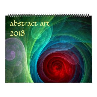 Calendarios Arte abstracto moderno 2018