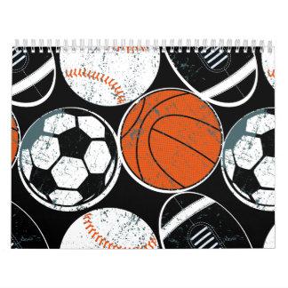 Calendarios Bolas del deporte de equipo