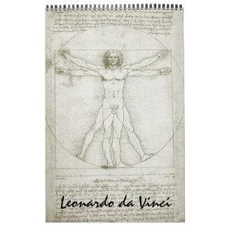 Calendarios Bosquejos y dibujos de la bella arte de Leonardo