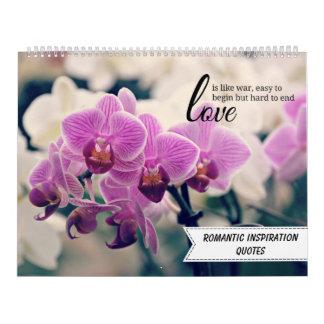 Calendarios Citas inspiradas románticas