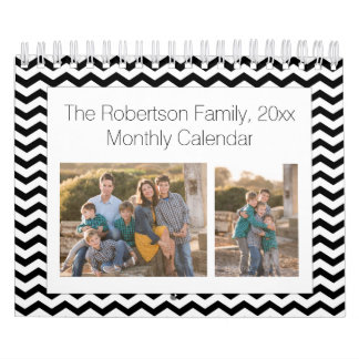 Calendarios Collage de encargo blanco negro 24-Image de la