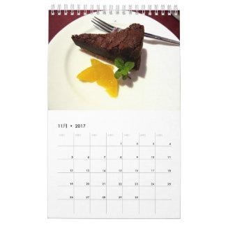 CALENDARIOS DE PARED スウィーツカレンダー2017