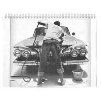 Calendarios De Pared Aletas del cromo y coches grandes