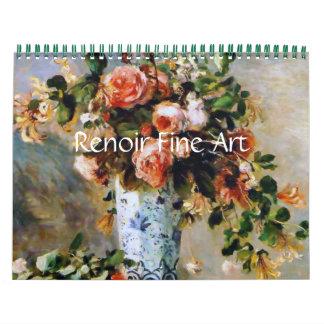 Calendarios De Pared Bella arte de Renoir