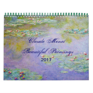 Calendarios De Pared Bella arte escénica hermosa de Claude Monet