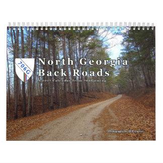 Calendarios De Pared Caminos traseros del norte de Georgia