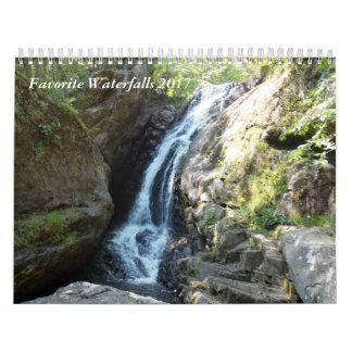 Calendarios De Pared Cascadas preferidas 2017
