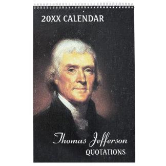Calendarios De Pared Citas de Thomas Jefferson