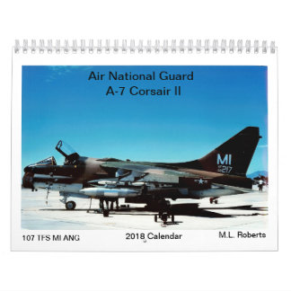 Calendarios De Pared Corsario del Guardia Nacional A-7 del aire II