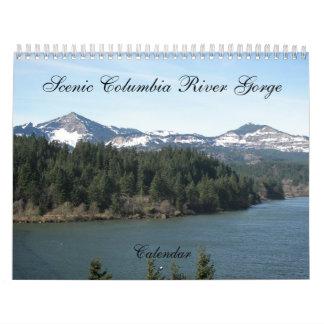 Calendarios De Pared Foto escénica de la garganta del río Columbia