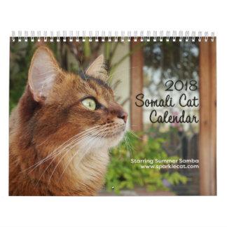 Calendarios De Pared Gato somalí, protagonizando la samba 2018 del