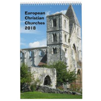 Calendarios De Pared Iglesias cristianas europeas 2018