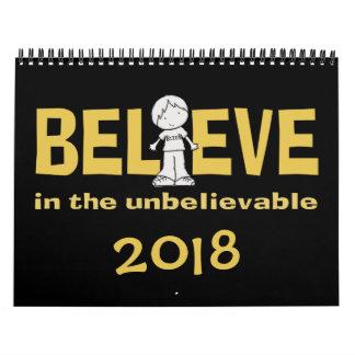 "Calendarios De Pared Little Boy como """" adentro creo 2018 (el medio)"