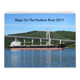 Calendarios De Pared Naves en el río Hudson 2017