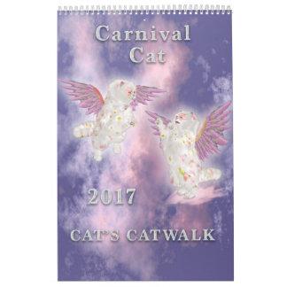 Calendarios De Pared Página del gato 2017 del carnaval sola