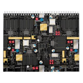 Calendarios De Pared Placa de circuito negra