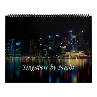 Calendarios De Pared Singapur por noche