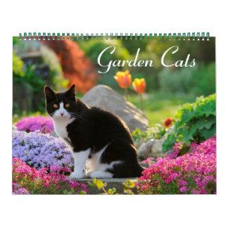 Calendarios De Pared Tamaño de los gatos 2017 del jardín grande