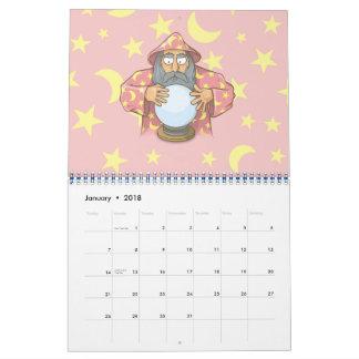 Calendarios Mago con la bola