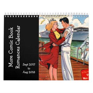 Calendarios Más romances del cómic - sept. 2017 de o Sapt 2018