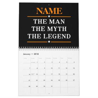 Calendarios Nombre personalizado el hombre el mito la leyenda