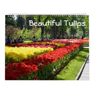 Calendarios tulipanes hermosos de 12 meses