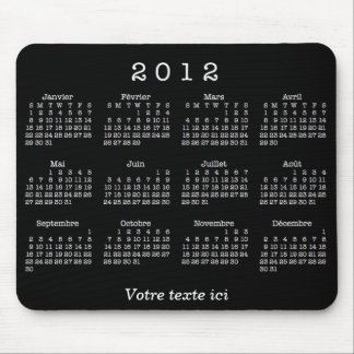 Calendrier 2012 français alfombrilla de ratón