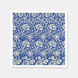 Calicó del azul de Sorta Servilletas Desechables