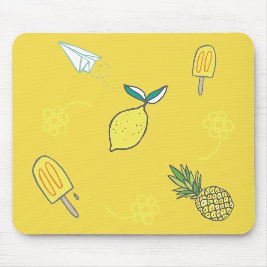 Calidad Lemony del verano Alfombrilla De Ratón