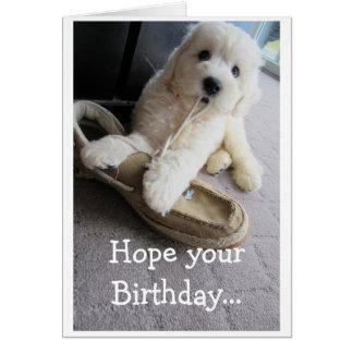 Caliente el cumpleaños borroso, humor lindo del tarjeta de felicitación