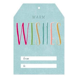 Caliente la etiqueta del regalo de los deseos invitación 12,7 x 17,8 cm