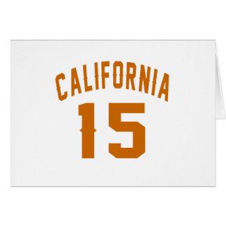 California 15 diseños del cumpleaños tarjeta de felicitación