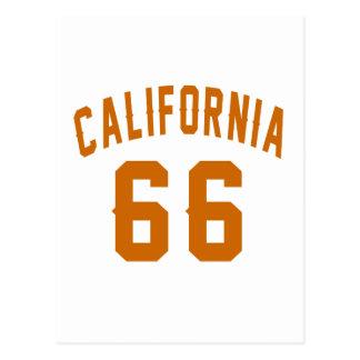 California 66 diseños del cumpleaños postal