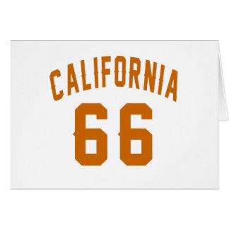 California 66 diseños del cumpleaños tarjeta de felicitación