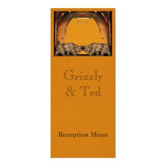 California lleva la tarjeta del menú de la invitación 10,1 x 23,5 cm