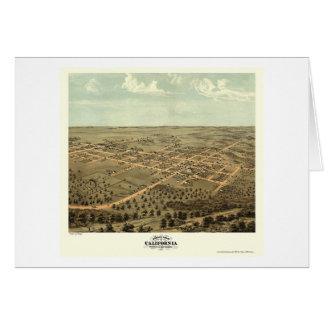 California, mapa panorámico del MES - 1869 Tarjeta De Felicitación