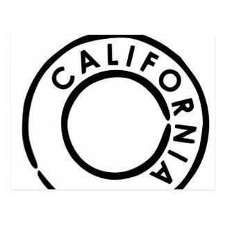 California matasellos diseño postal