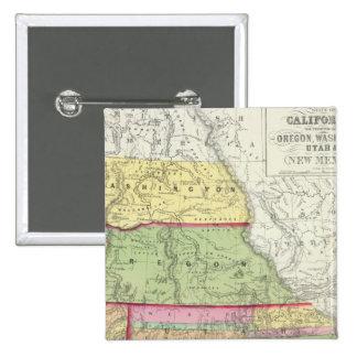 California, Oregon, Washington, Utah, New México 3 Chapa Cuadrada