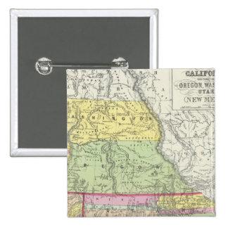 California, Oregon, Washington, Utah, New México 7 Chapa Cuadrada